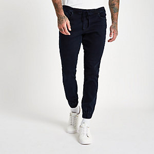 Ryan - Donkerblauwe denim jogging-jeans
