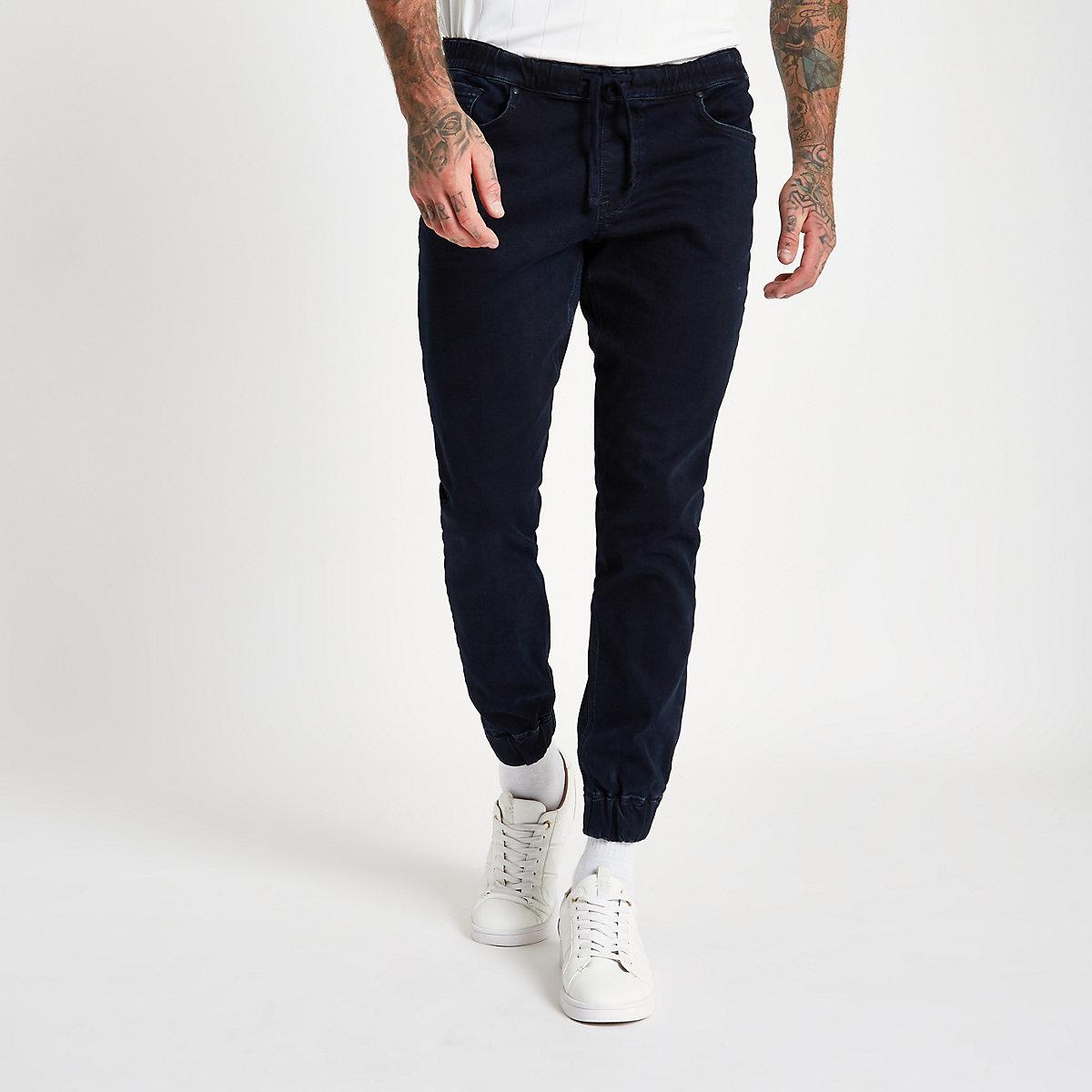 Dark blue Ryan denim jogger jeans
