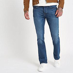 Blaue Bootcut Jeans