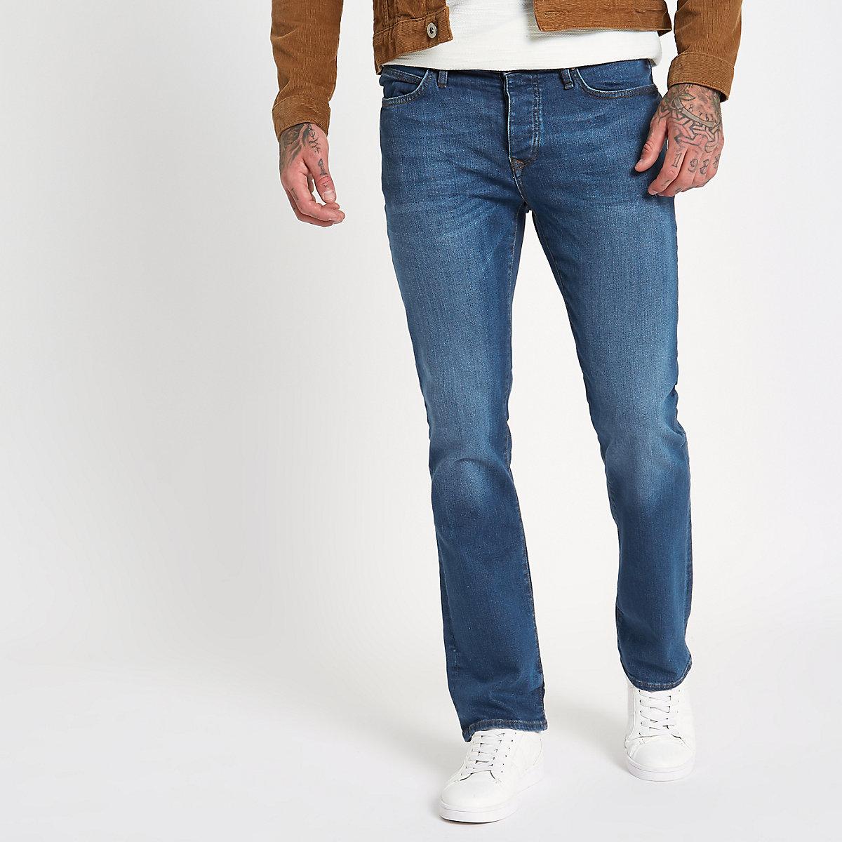 Blue bootcut jeans