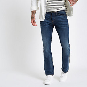 Clint - Donkerblauwe bootcut jeans