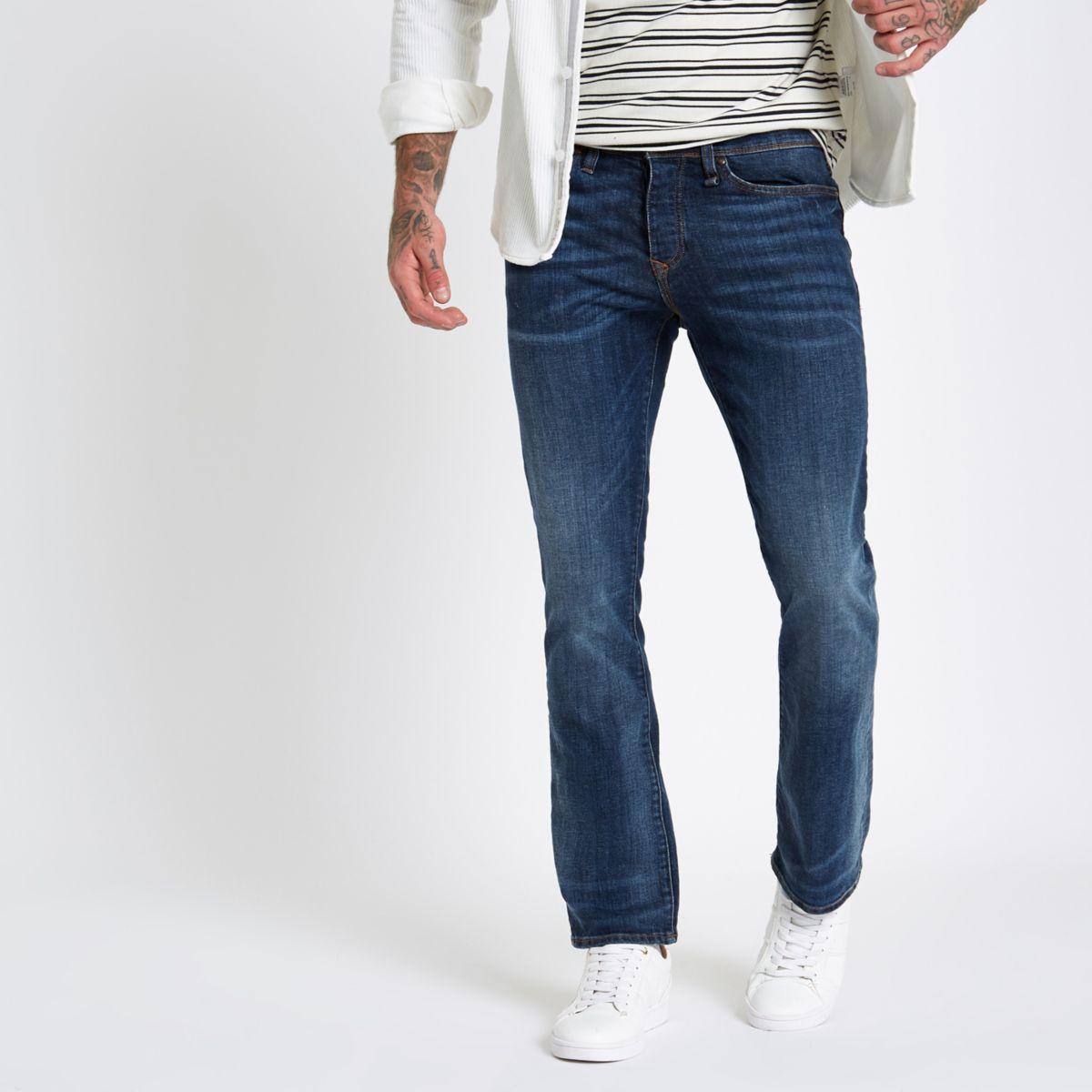 Dark blue Clint bootcut jeans