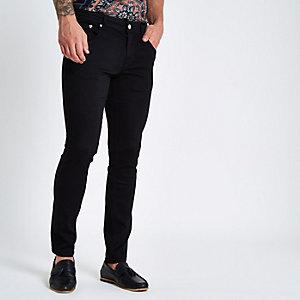 Sid – Jean skinny noir à broderie guêpe