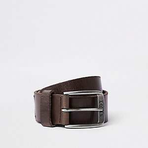 Levi's brown leather buckle belt