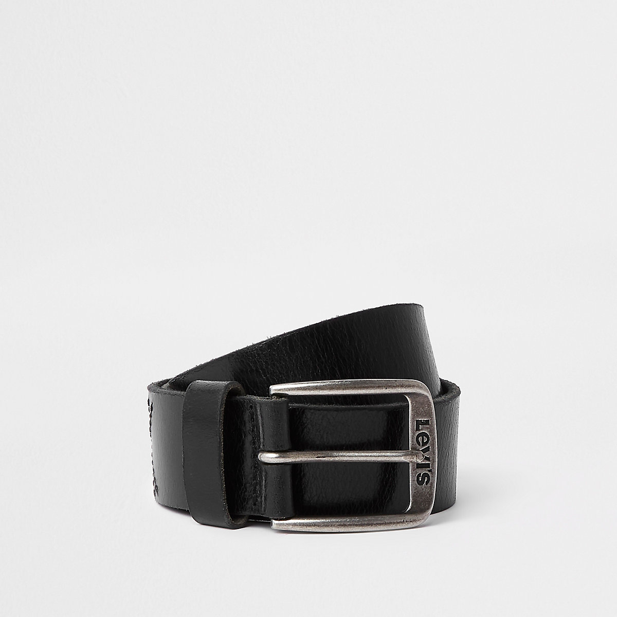 Levi's black leather buckle belt