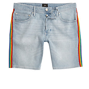 Blue Pride Sid skinny fit denim shorts