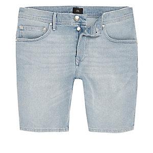 Sid - Lichtblauwe skinny-fit denim short