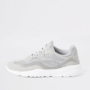 Stone runner lace-up trainers