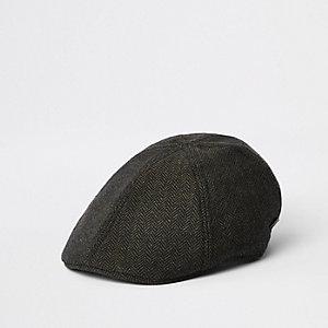 Flache Kappe in Khaki