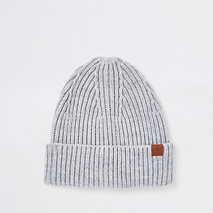 Grey fisherman beanie hat ea49363ceb2