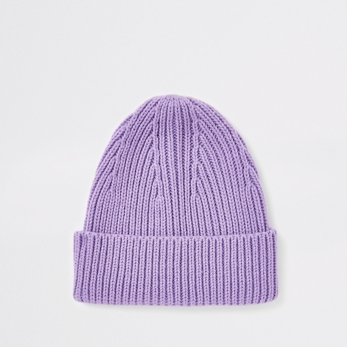 Purple fisherman beanie hat