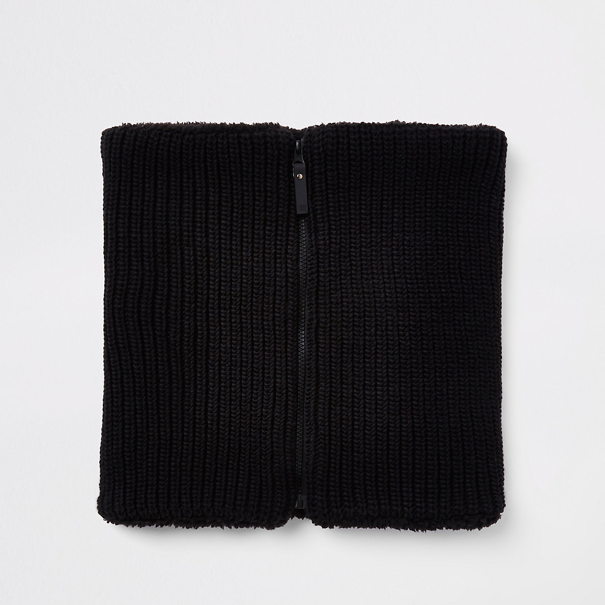 Black knit snood
