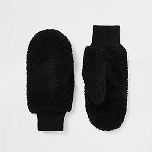 Black borg mittens