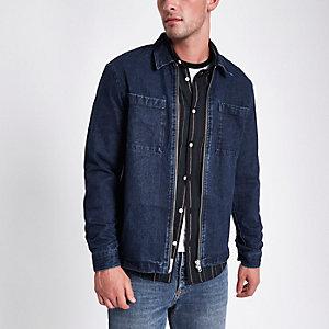 Blaues Jeans-Shacket