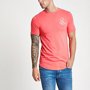 Pink muscle fit T-shirt