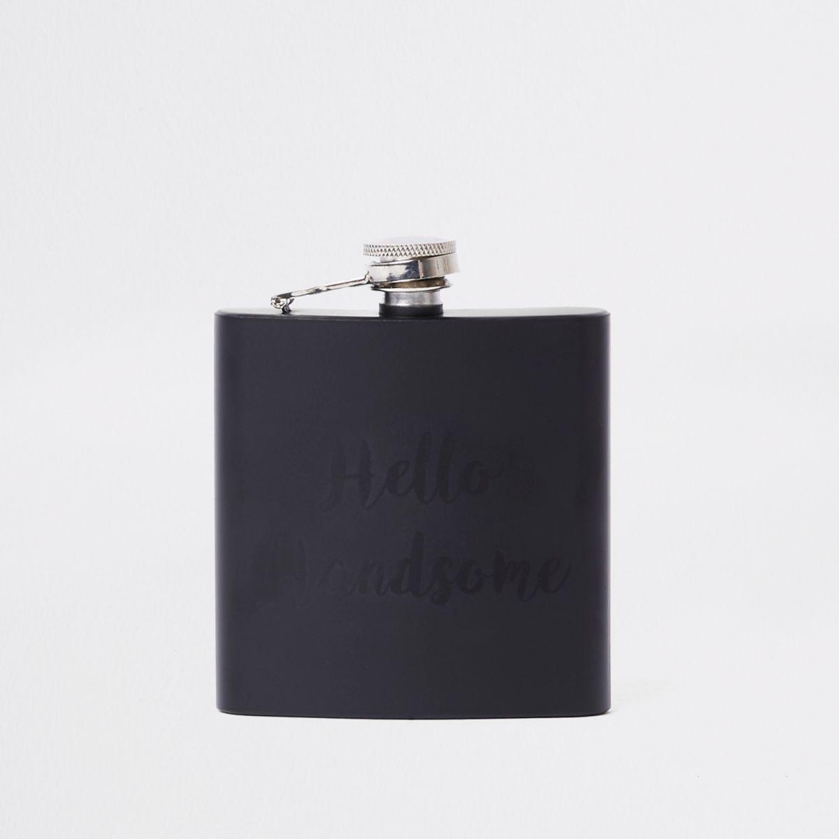 Flasque «hello handsome» noire