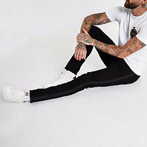 Sid - Zwarte skinny jeans met bies opzij