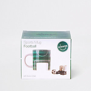Groene voetbalwedstrijd beker