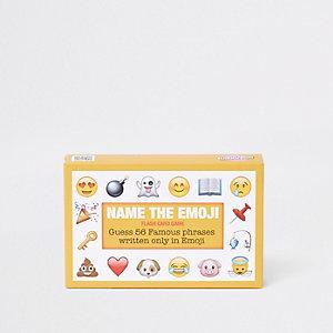 Jeu de cartes «Name the Emoji» jaune