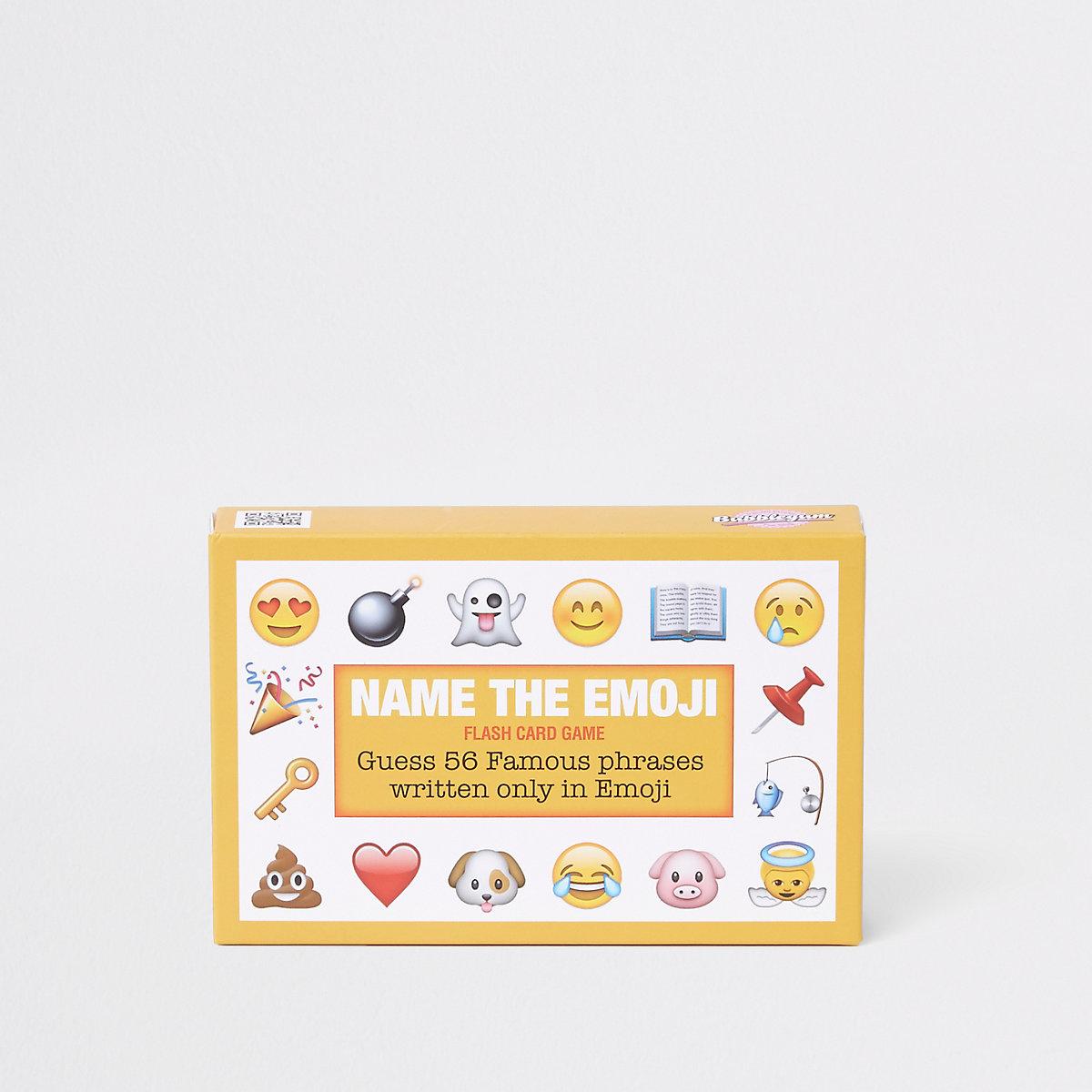 Yellow 'Name the Emoji' card set