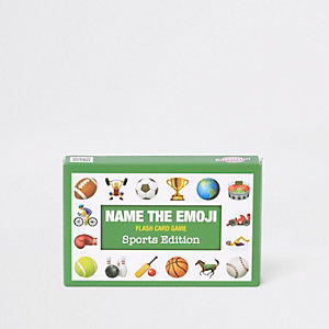 Green 'Name the Emoji' card set