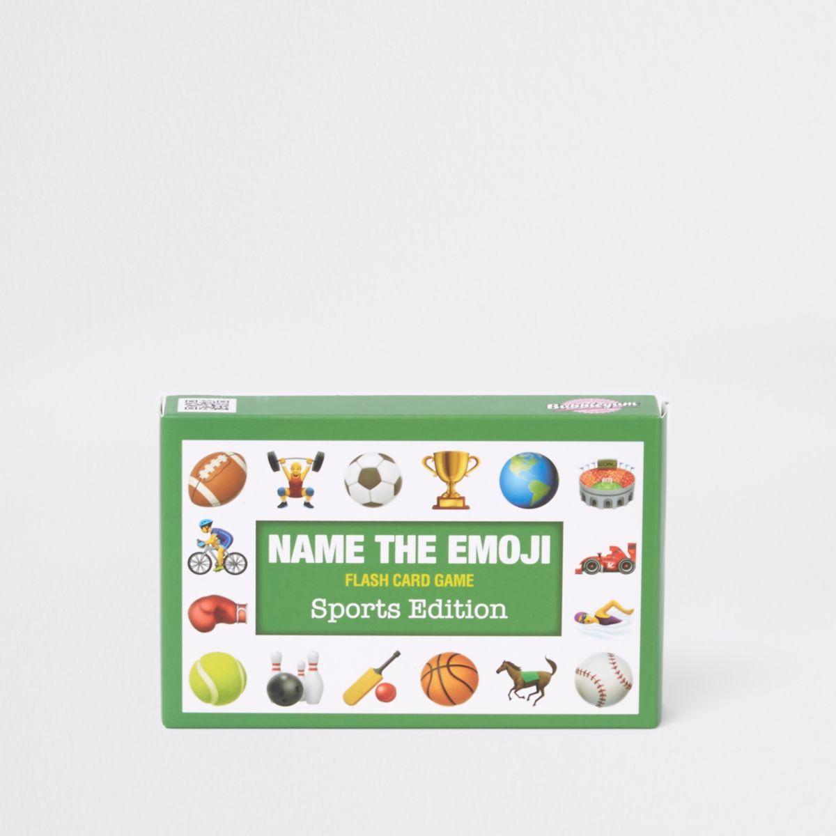 Green 'Name the Emoji' card set