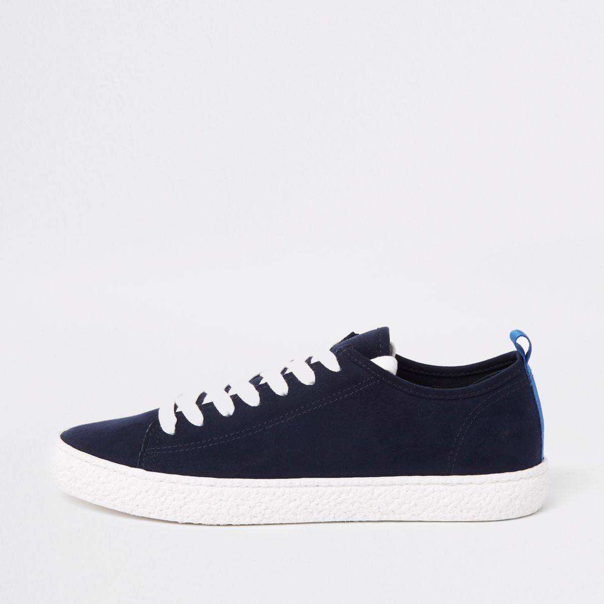 Navy textured sole lace up sneaker