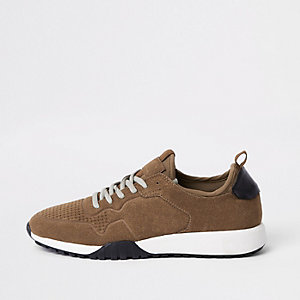 Brown runner sneakers