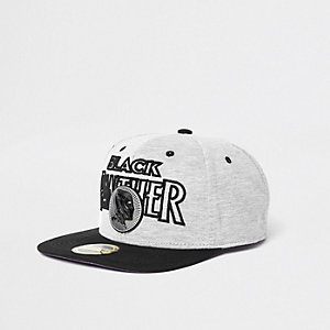 Grey 'Black Panther' snapback cap