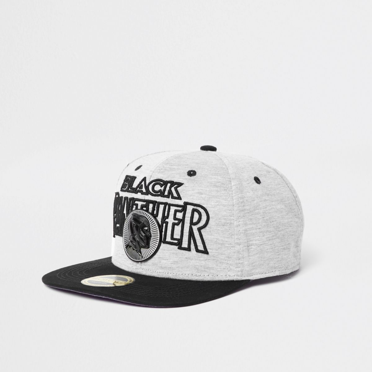 Grey 'Black Panther' snapback cap