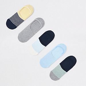 Multipack blauwe sneakersokken