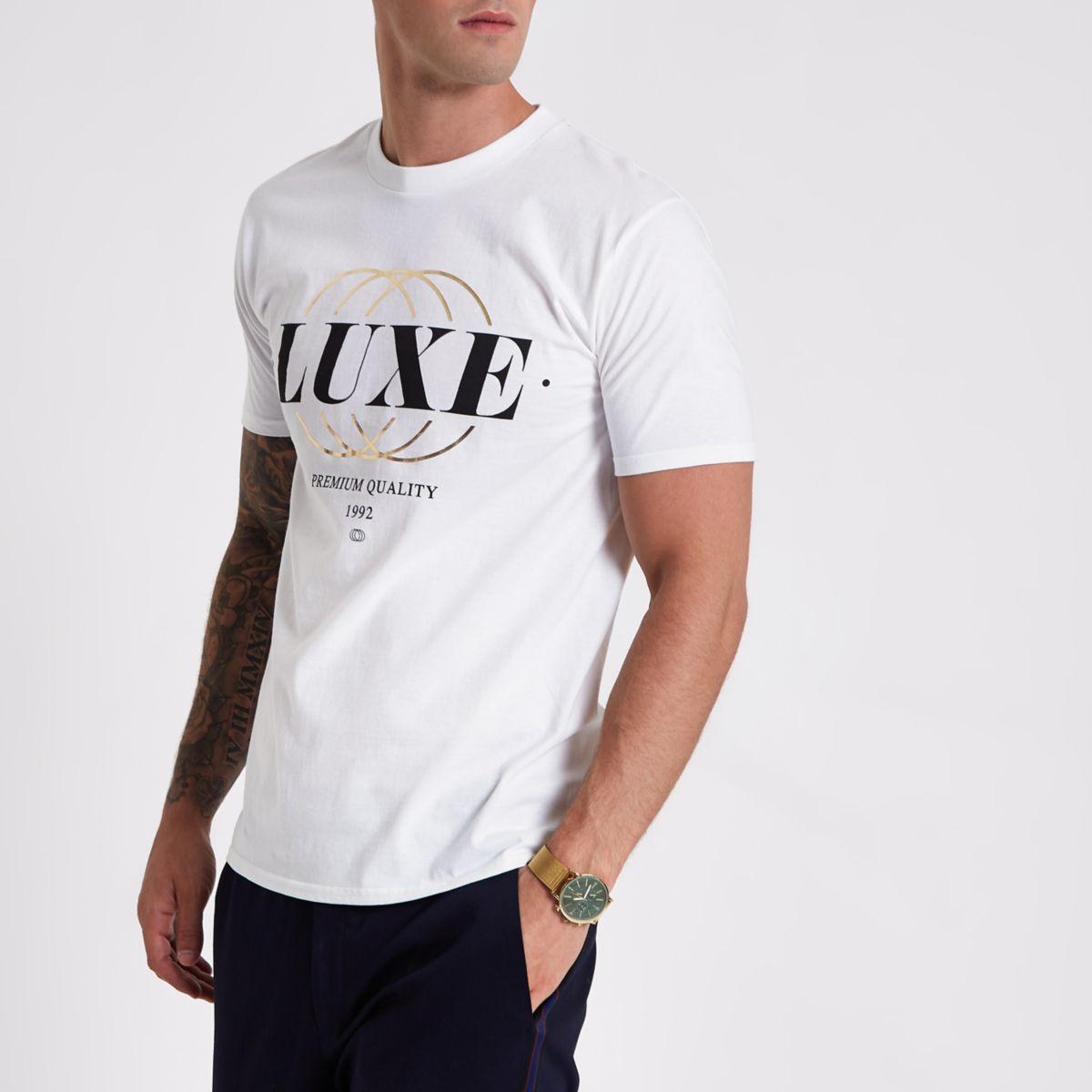 White 'luxe' short sleeve T-shirt