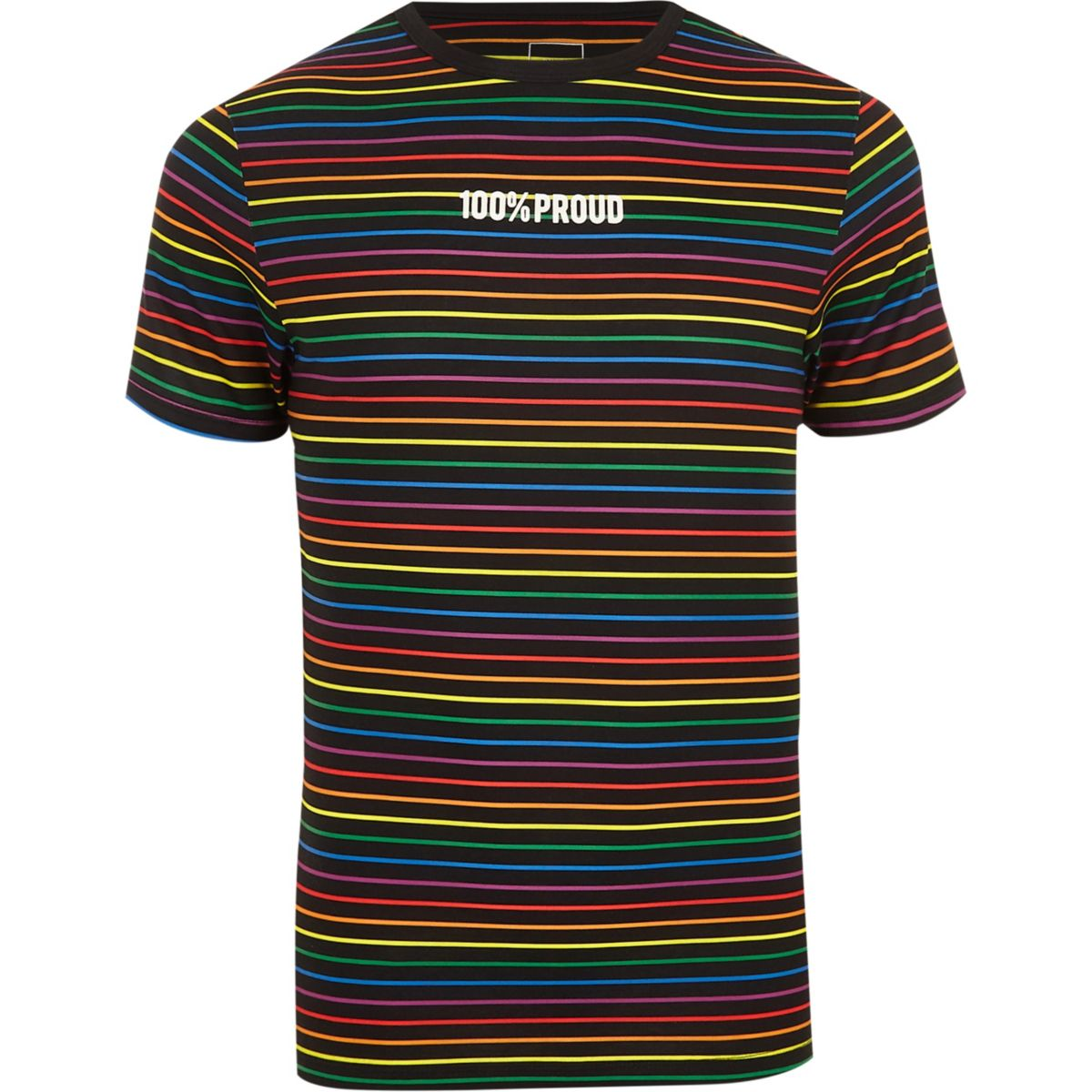 Black Pride stripe muscle fit T-shirt