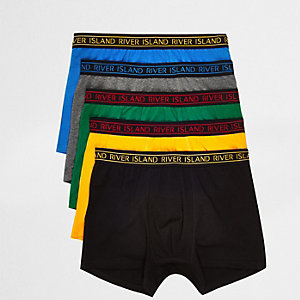 Big & Tall yellow multicolour trunk multipack