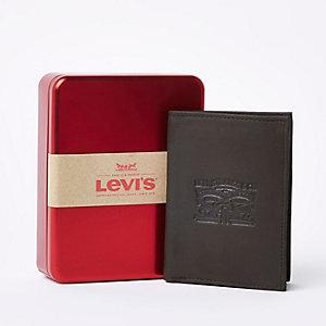 Levi's –  Portefeuille en cuir marron avec cheval en relief