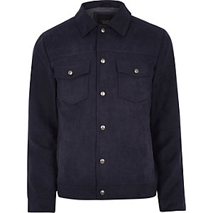 Jack & Jones Premium - Marineblauw truckerjack