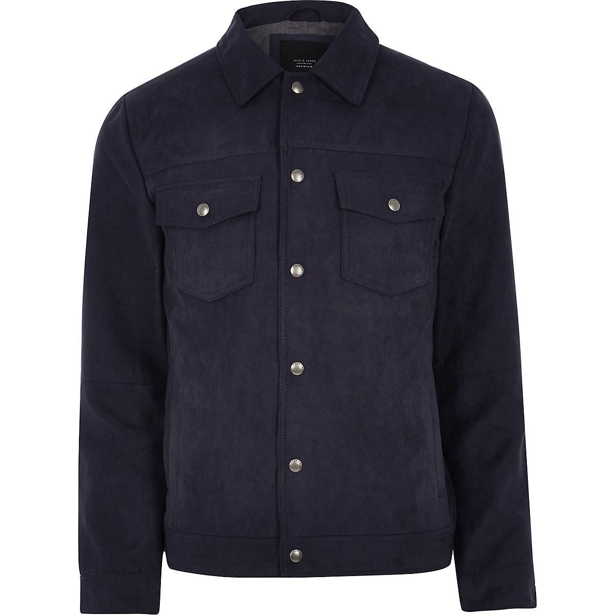Jack & Jones Premium navy trucker jacket