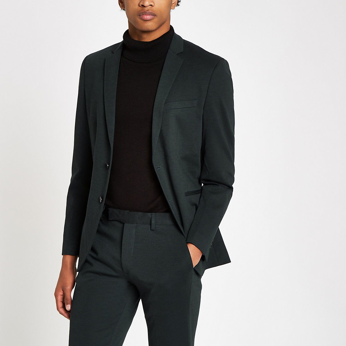 Jack & Jones green suit jacket