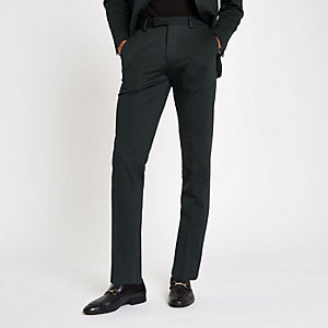 Jack & Jones green slim fit suit trousers