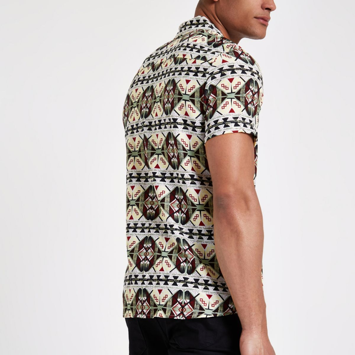 White Only & Sons Reverse Print Shirt                                  White Only & Sons Reverse Print Shirt by River Island