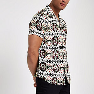 White Only & Sons reverse print shirt