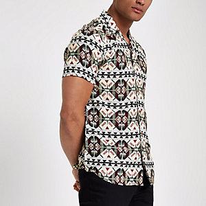 Chemise Only & Sons blanche à imprimé sur l'envers