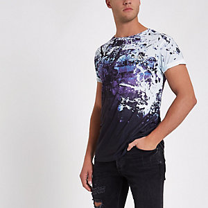 """Weißes Slim Fit T-Shirt mit """"NYC""""-Print"""
