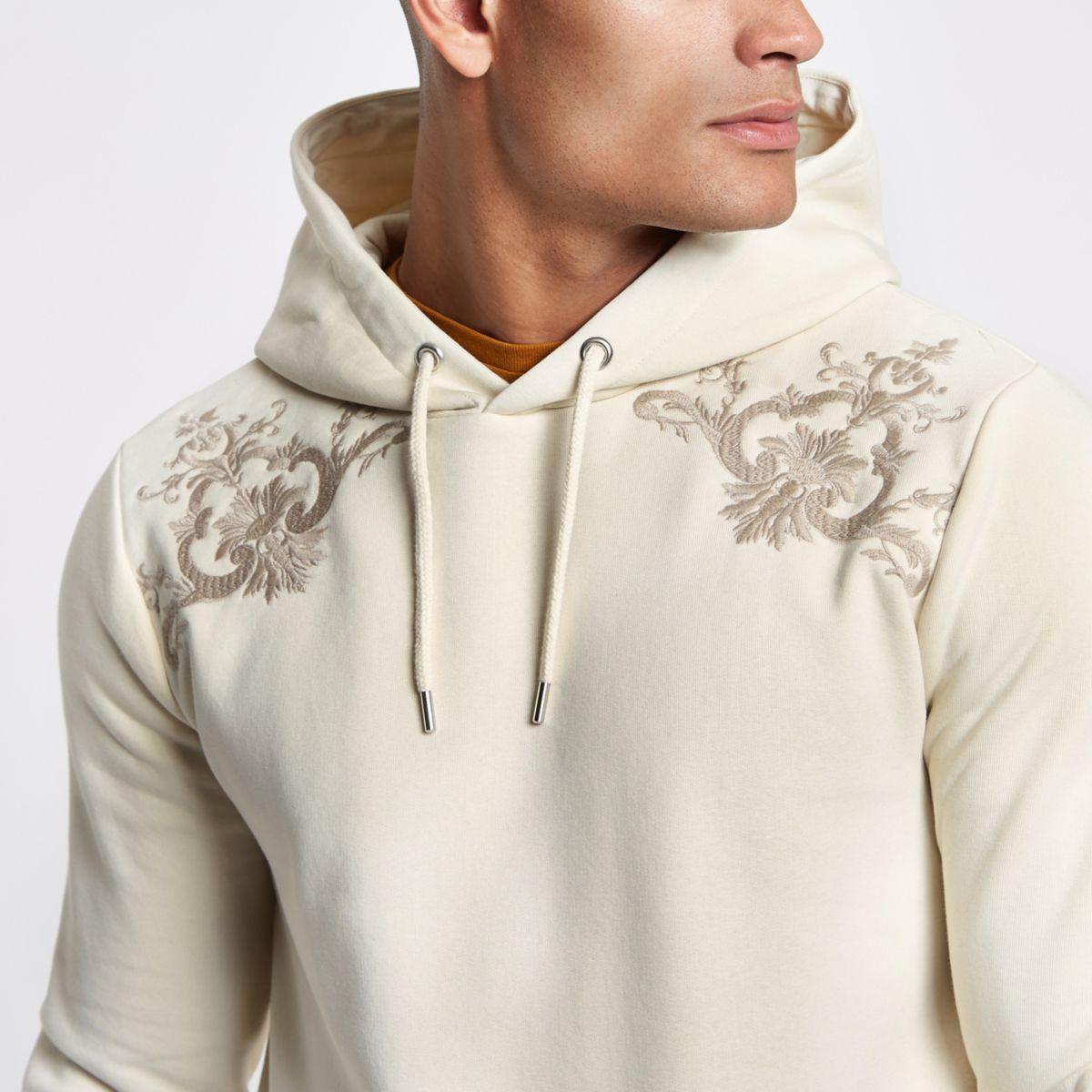 Stone baroque slim fit hoodie