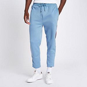Pantalon de jogging slim bleu avec bande latérale
