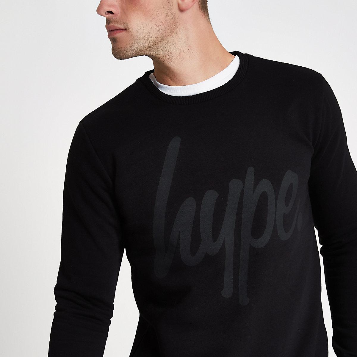 Hype black crew neck sweatshirt