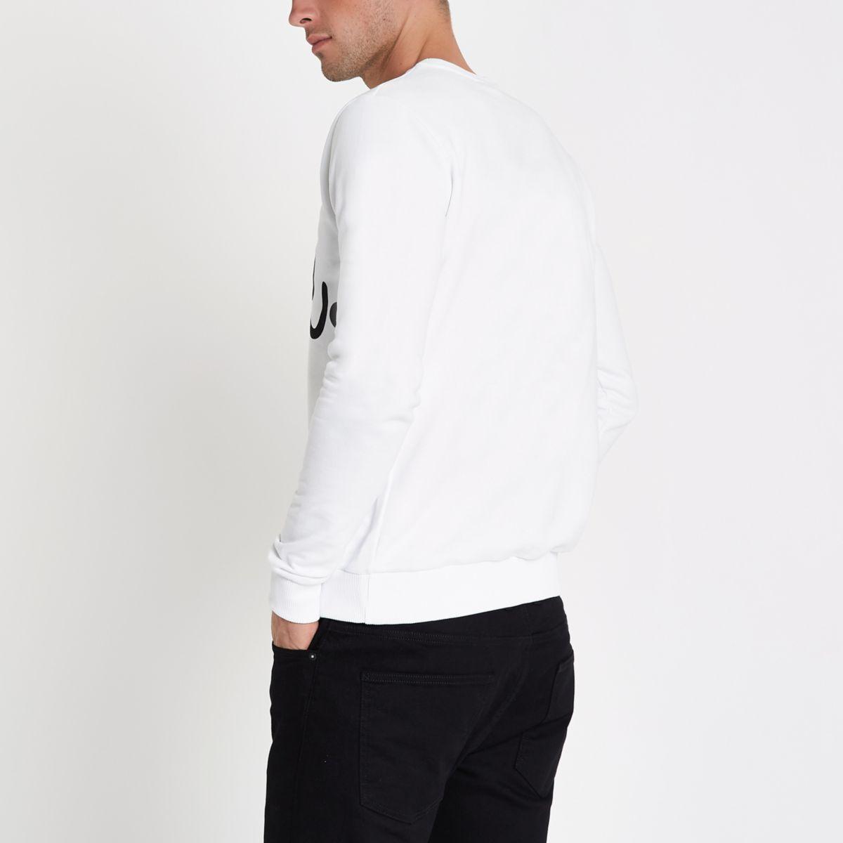 sweatshirt white neck sweatshirt neck crew white Hype Hype crew dHna60qx0