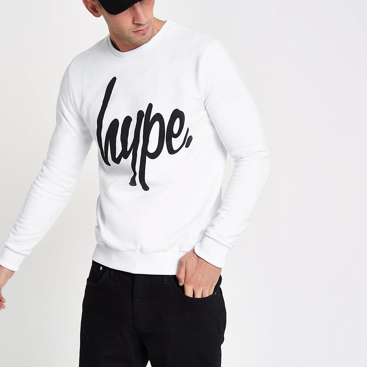 Hype white crew neck sweatshirt