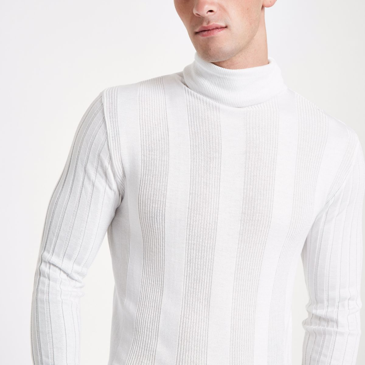 White jumper fit neck muscle turtle fqxUfwg
