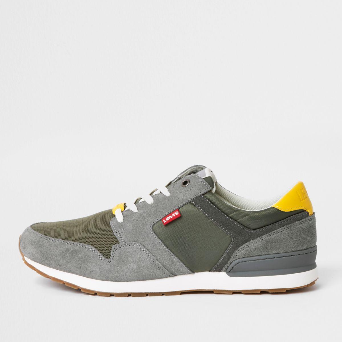 Levi's green runner sneakers